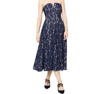 NWT! Fame and Partners Navy Strapless Fit & Flare!